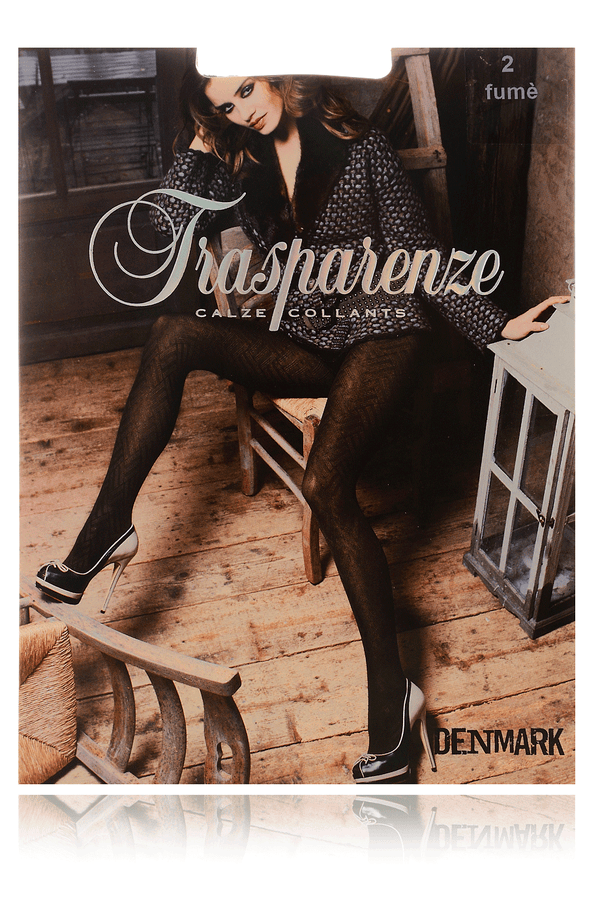 TRASPARENZE DENMARK Chevron Tights Black