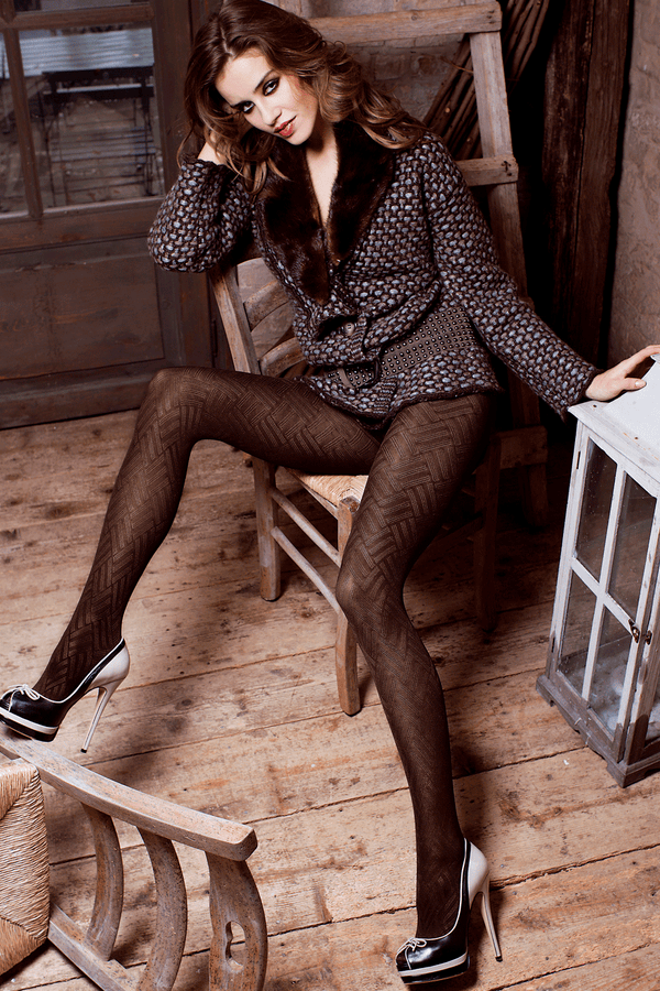 TRASPARENZE DENMARK Chevron Tights Fume