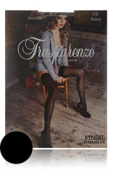 TRASPARENZE FINDAL Black Lace Hold Ups