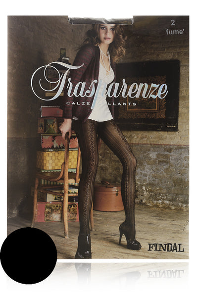 TRASPARENZE FINDAL Black Lace Tights