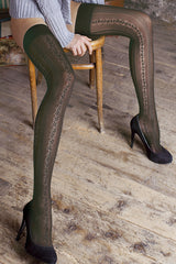 TRASPARENZE FINDAL Grey Lace Hold Ups