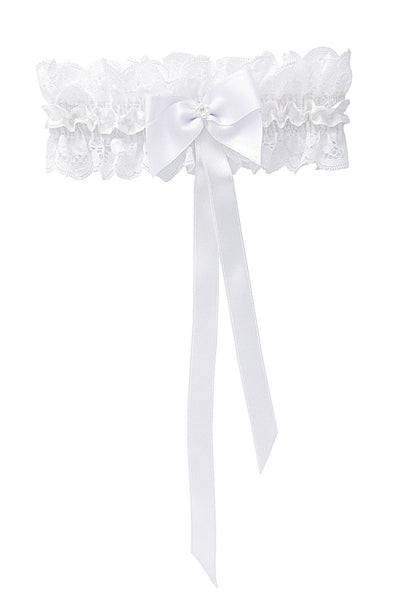 FORTUNA White Lace Bridal Garter