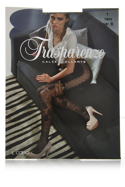TRASPARENZE IL CAIRO Black Lace Tights