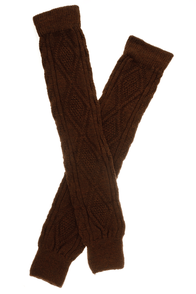 TRASPARENZE IRELAND Brown Legwarmers