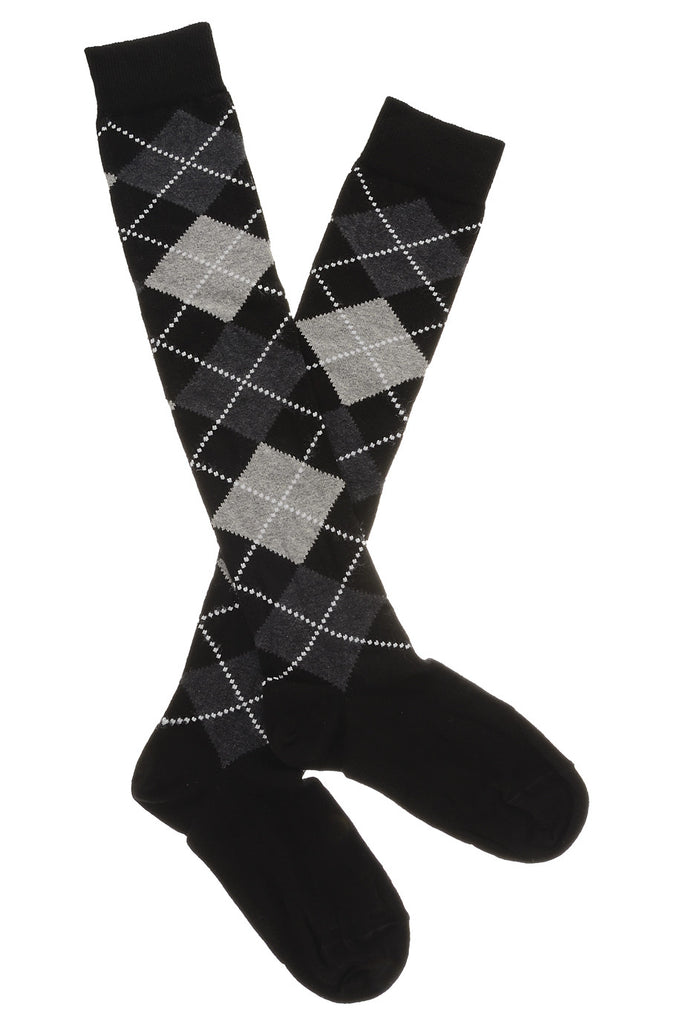 TRASPARENZE LATVIA Rhombus Black Socks