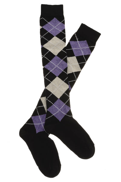 TRASPARENZE LATVIA Rhombus Purple Socks