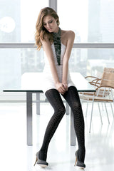 TRASPARENZE MANILA Black Diagonal Tights