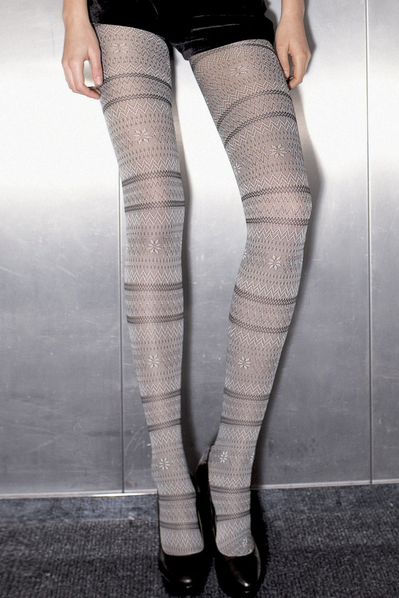 TRASPARENZE MONTREAL Grey Wavy Tights