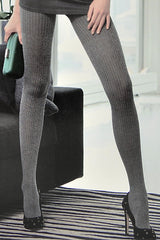 TRASPARENZE OSAKA Grey Striped Tights