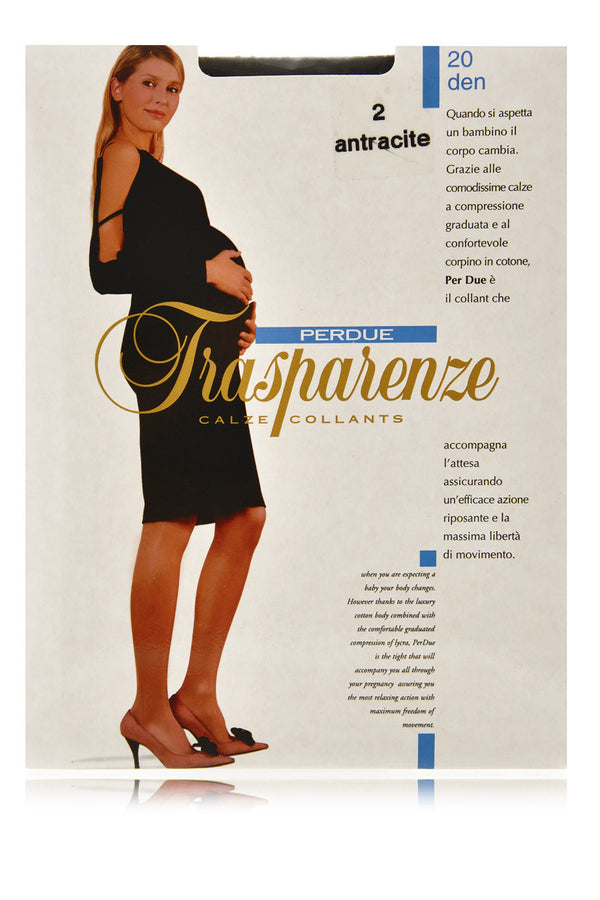 TRASPARENZE PERDUE Sheer Pregnancy Tights Antracite