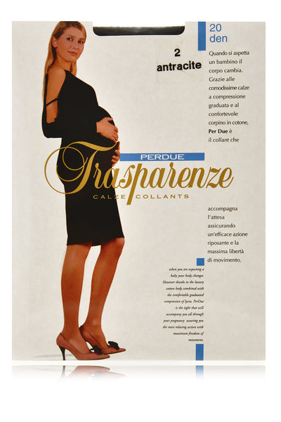 TRASPARENZE PERDUE Sheer Pregnancy Tights Black