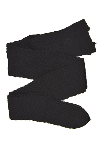 POLAND Black Woven Tights