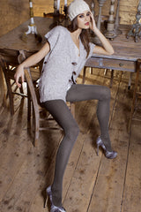 POLAND Grey Woven Tights