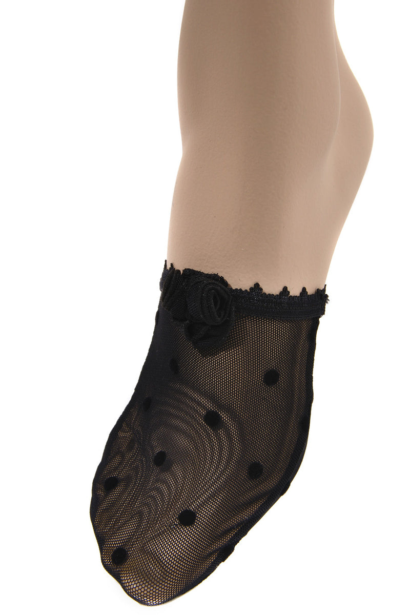 TRASPARENZE SCILLA Black Polka Dot Footies