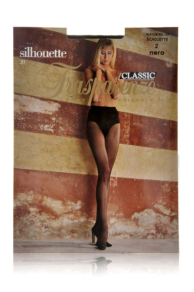 TRASPARENZE SILHOUETTE Slip Control Sheer Tights Black