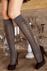 TRASPARENZE USA Diamond Gray Knee Highs