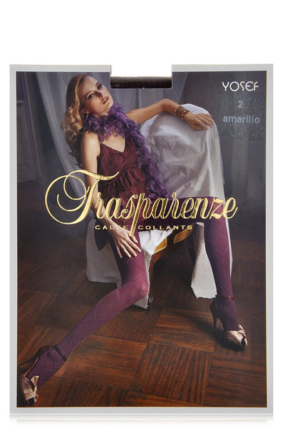 TRASPARENZE YOSEF Rhombus Prune Tights