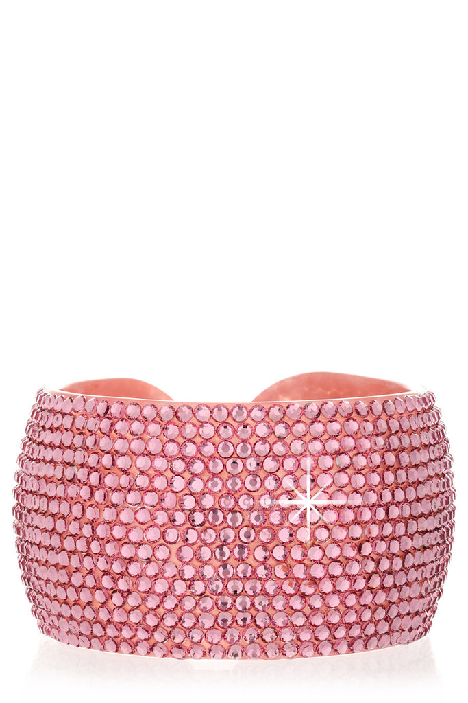 ADELIA Pink Crystal Bangle