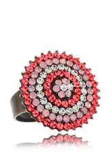 ALBA Coral Round Crystal Ring