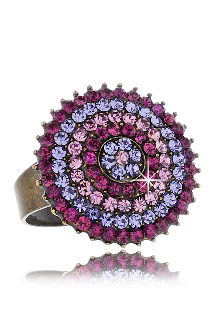 ALBA Purple Round Crystal Ring