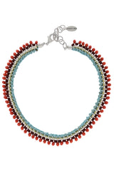 DONELLA Woven Crystal Necklace