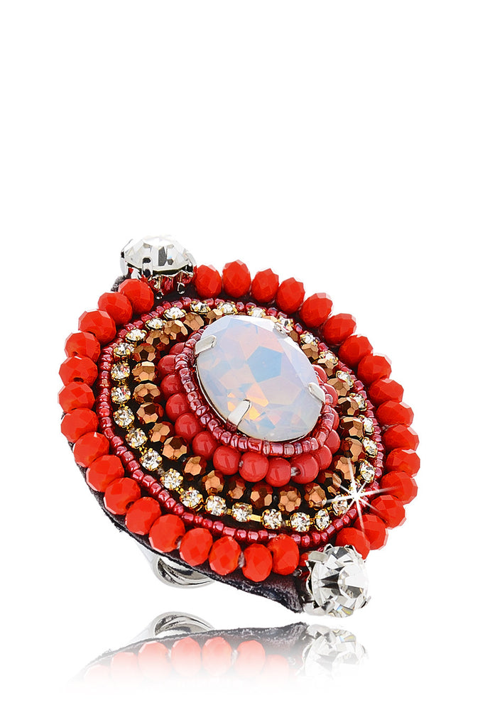 EILEEN Red Crystal Ring