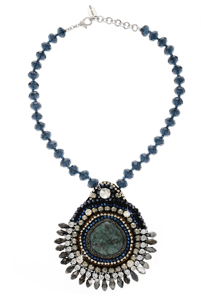 ELEANOR Blue Crystal Necklace