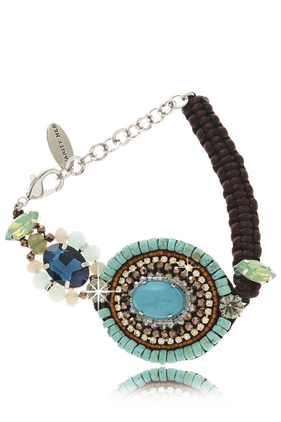 JENNIFER Blue Crystal Bracelet
