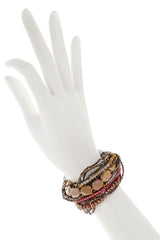 LESSIE Brown Beaded Bracelet