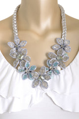 VANITY HER MARCIA SPRING Silver Blue Necklace