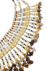 MELAMIE Long Beaded Necklace