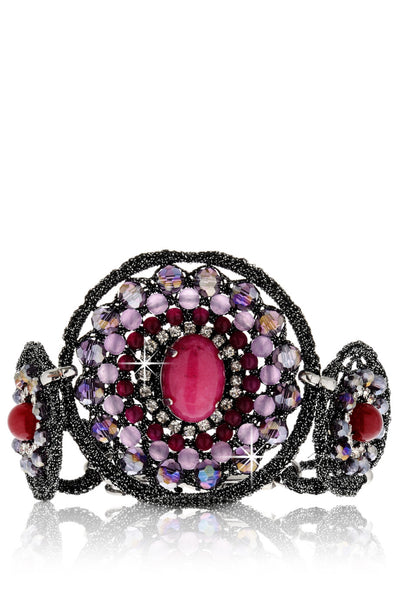 MEROLA Purple Bracelet with Beads