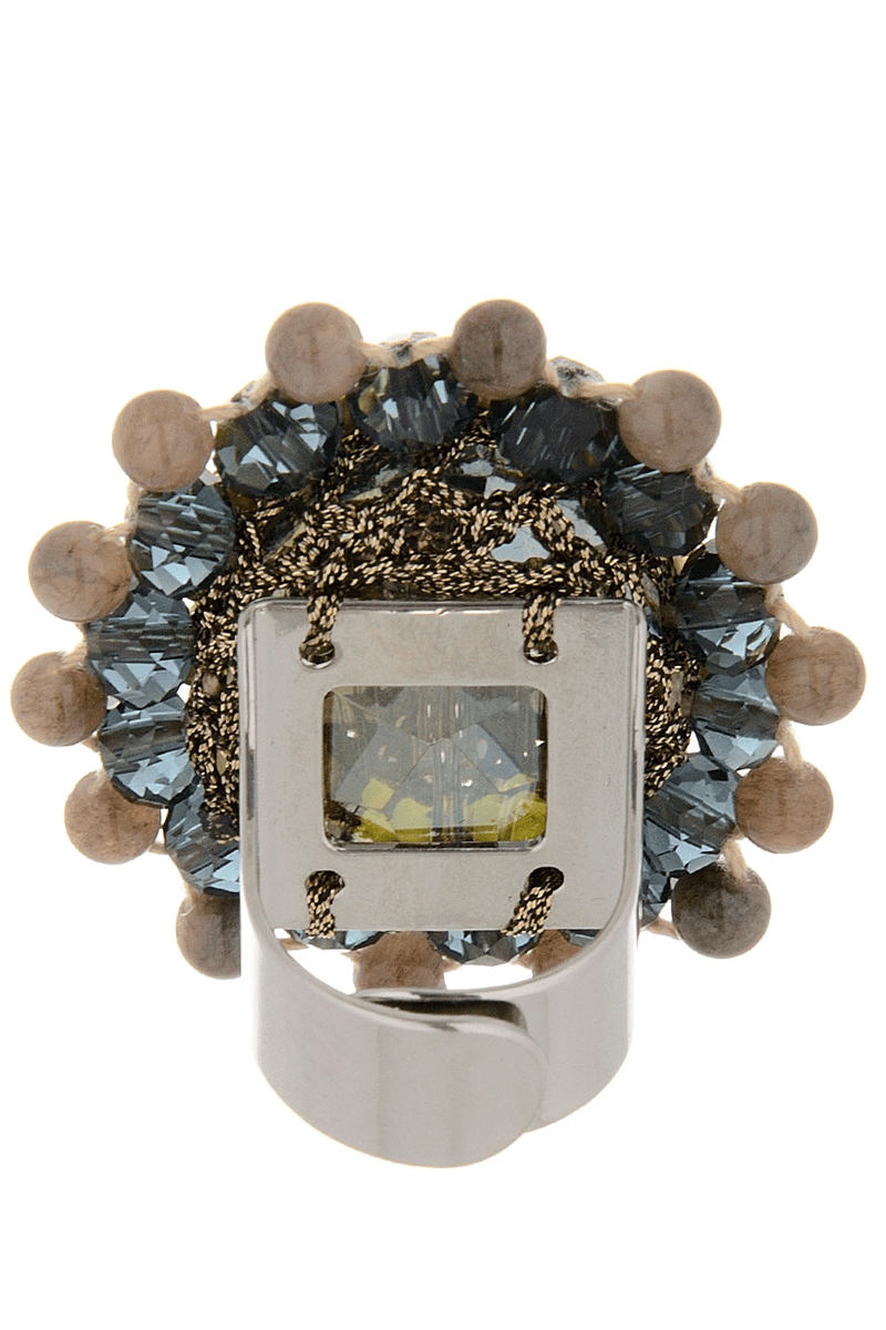 MOSS GREEN Crystal Ring