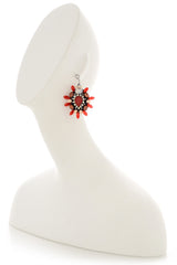 Melinda Red Crystal Earrings