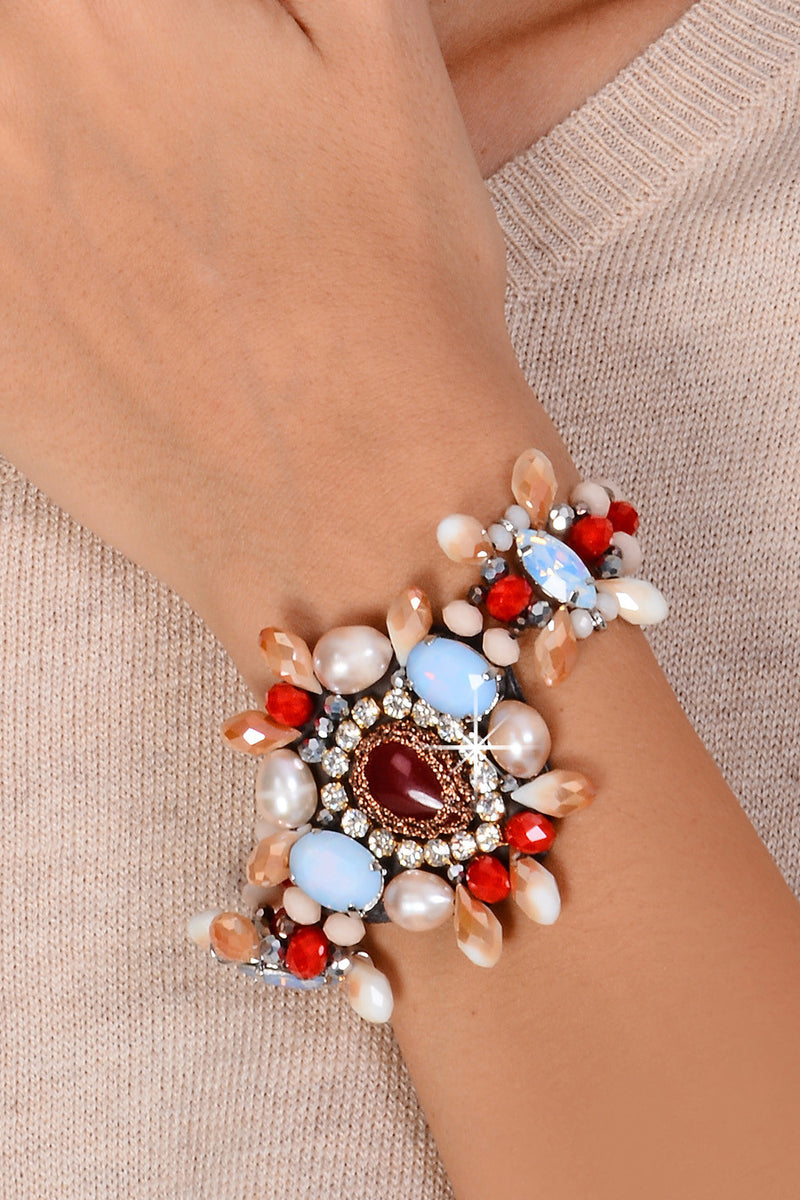 ORNELIA Red Crystal Bracelet