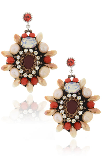 ORNELIA Red Crystal Earrings