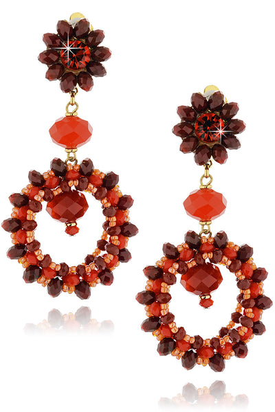 SCARLETT Red Crystal Earrings