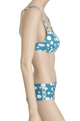 Emerald White Polka Dots Bra