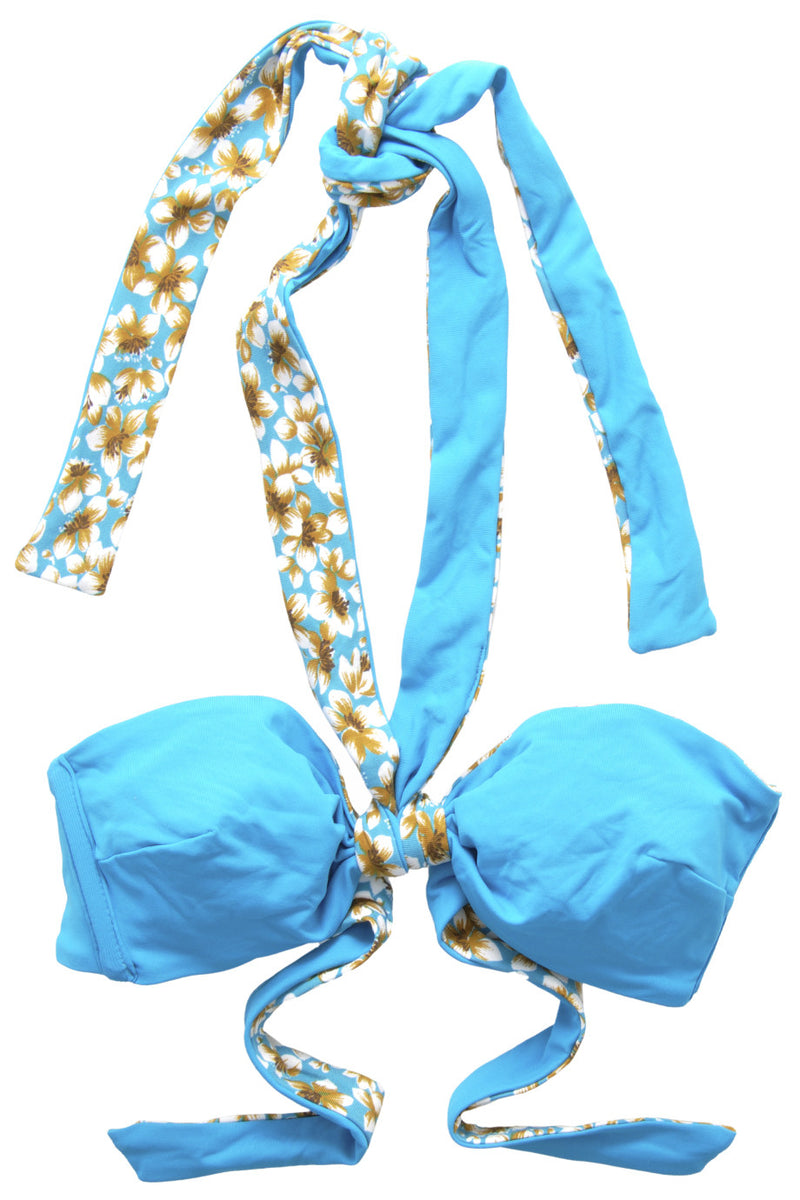FASCIA Light Blue Floral Bandeau