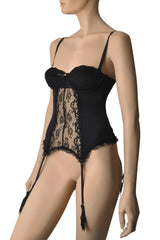 MELODY Black Lace Bustier