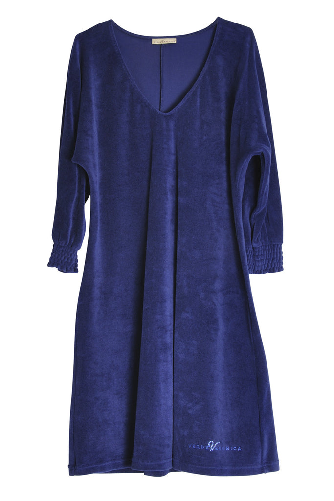 PIPER Royal Blue Cotton Dress