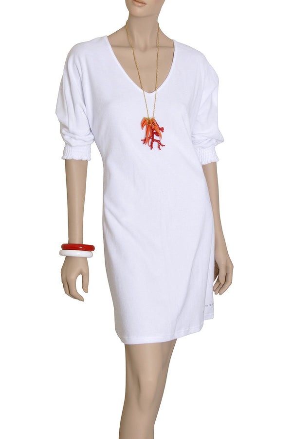PIPER White Cotton Dress