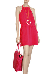 TWIST Fuchsia Cotton Dress