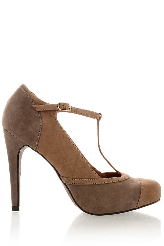 GUNEVERE Brown Suede Pumps