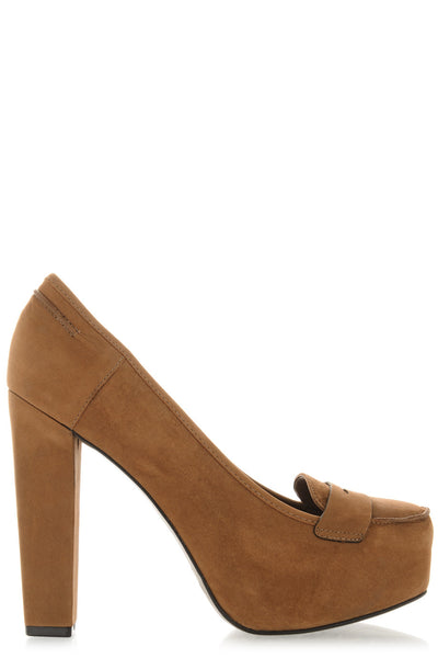 IRLANDA Camel Leather Pumps