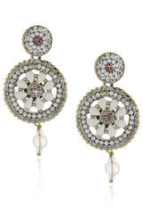 1001 NUITS White Crystals Earrings