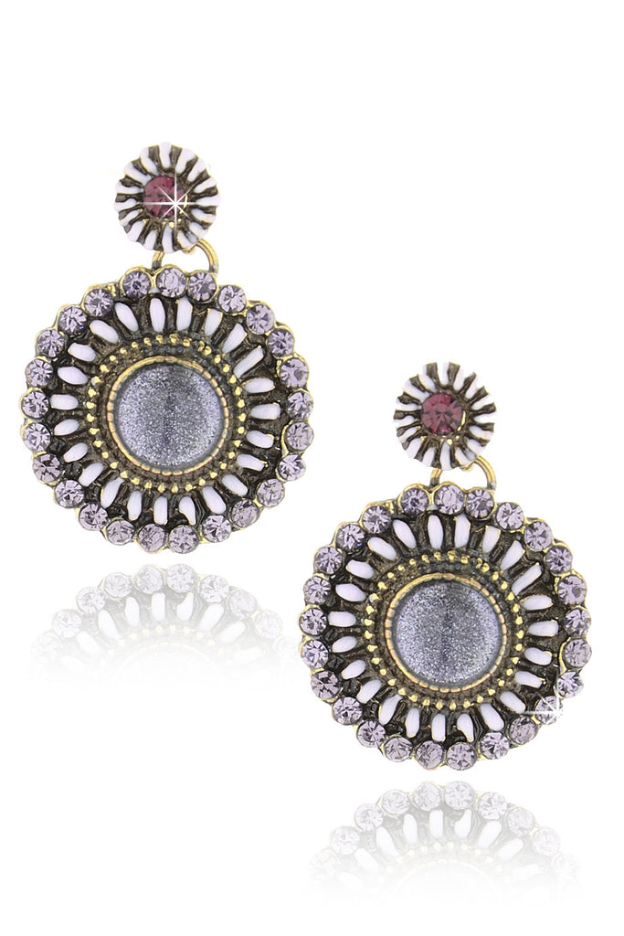BYZANTINE Purple Earrings