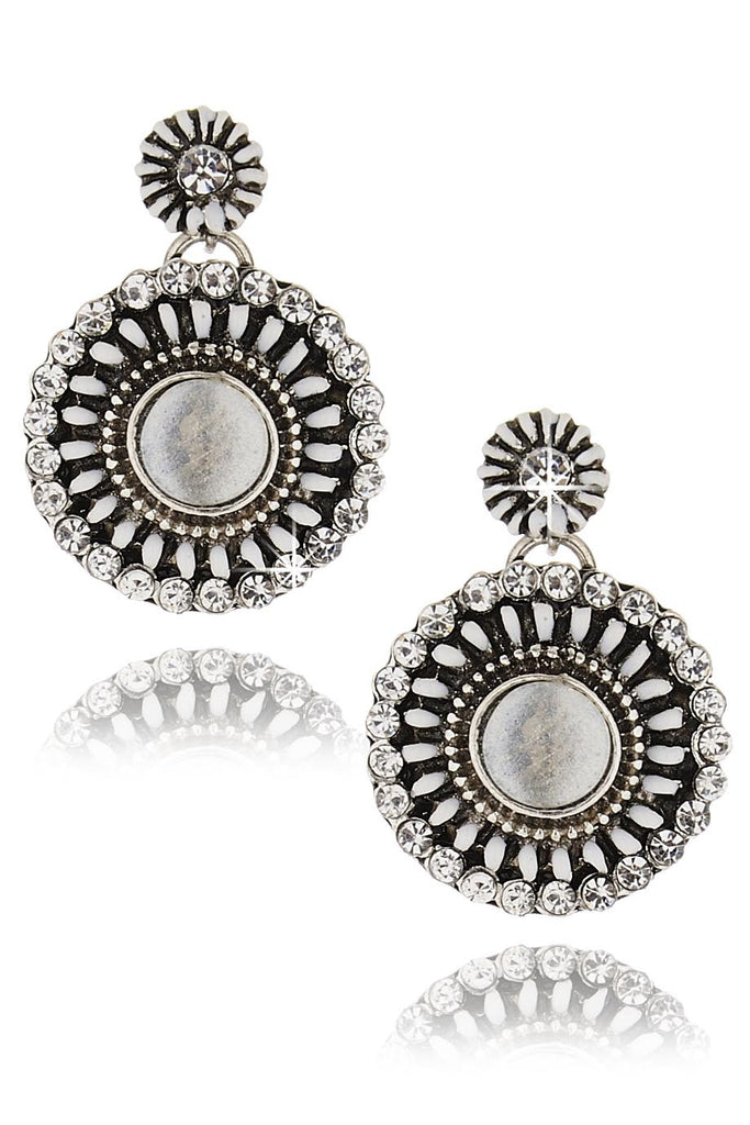 BYZANTINE Silver White Earrings