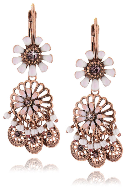 SAKURA White Flowers Earrings