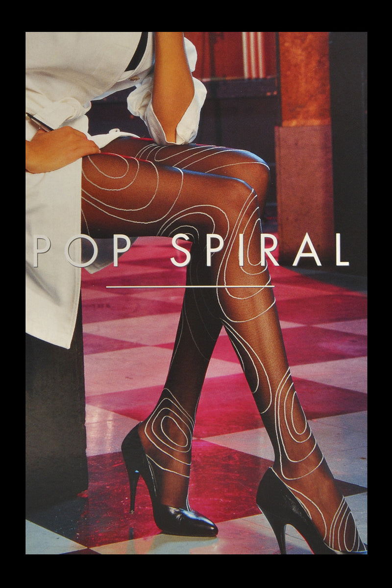 WOLFORD POP SPIRAL Black Tights